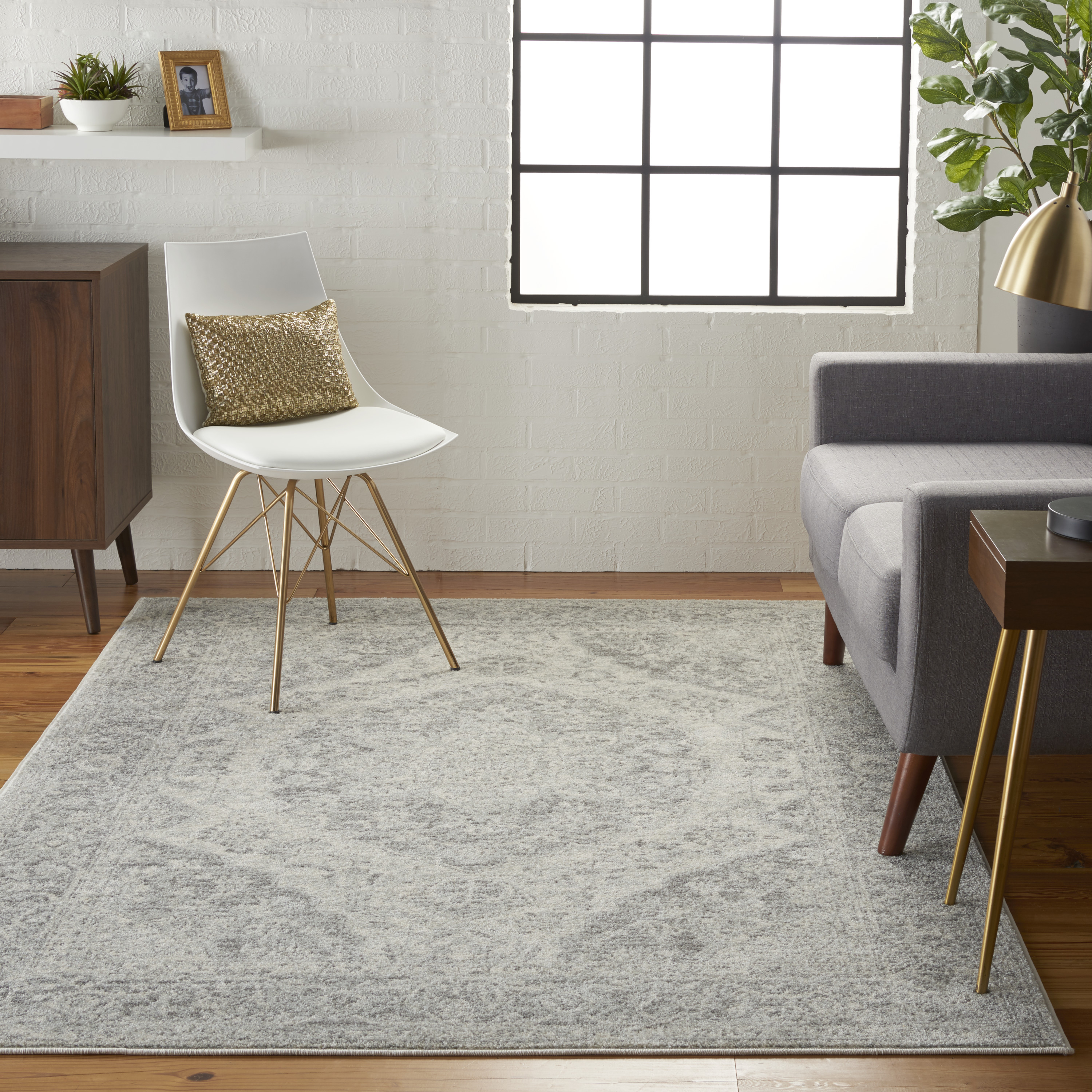 Nourison Tranquil TRA05 Ivory Grey Rug
