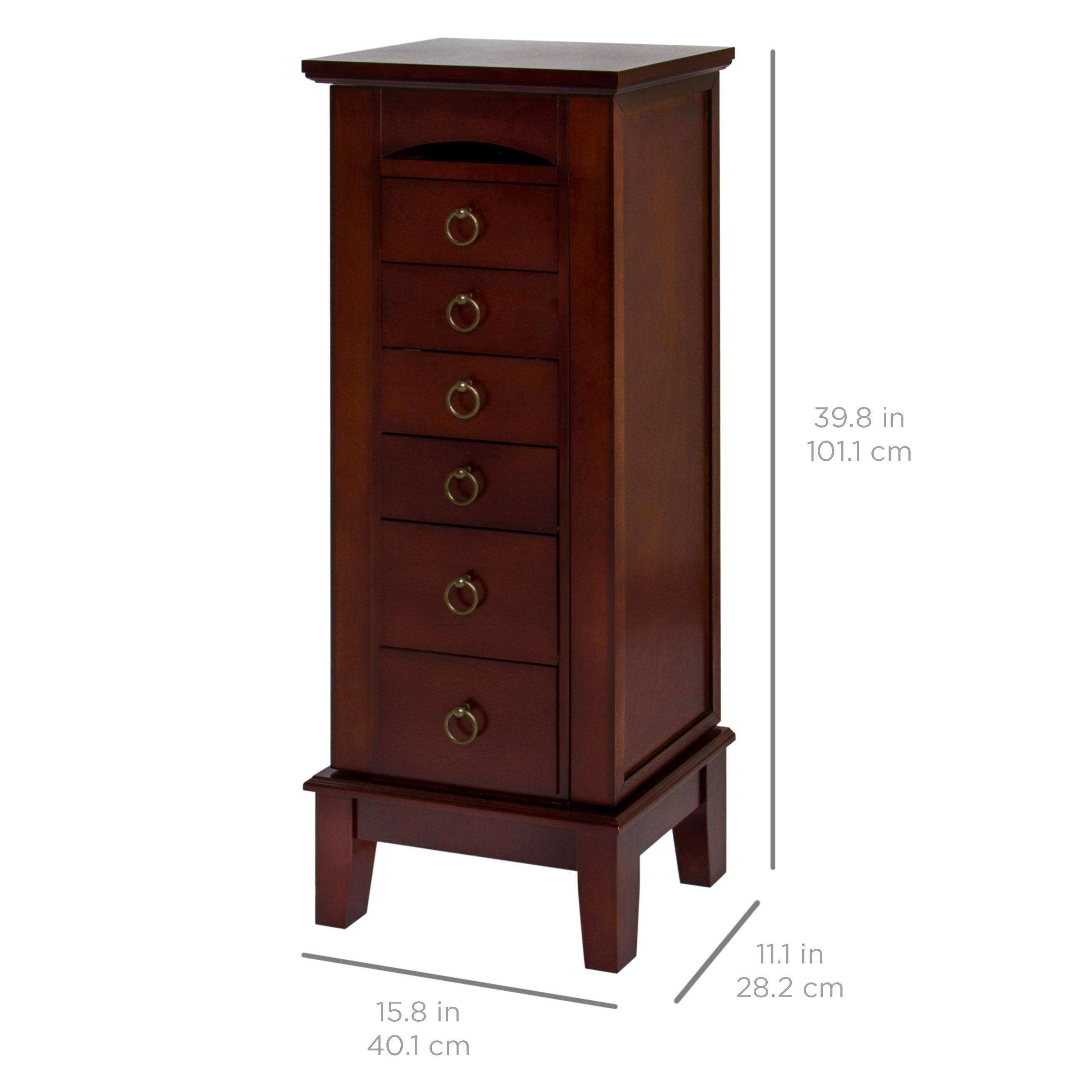 Best choice products wooden standing jewelry armoire