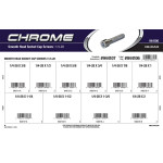 "Chrome Smooth-Head Socket Cap Screws Assortment (1/4""-28 Thread)"