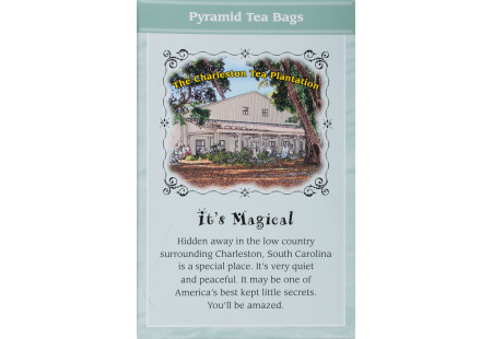 Back of Charleston Tea Carolina Mint Black Tea box