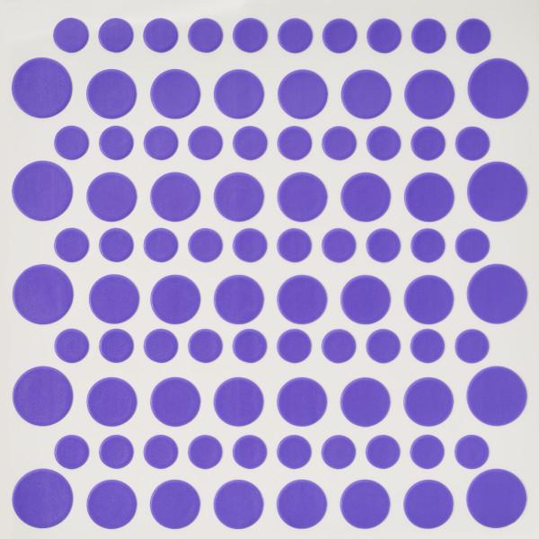 Bright Purple Printed Dots Fondant DecoShapes®