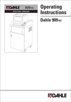 Dahle PowerTEC® 909 HS Shredder User Guide