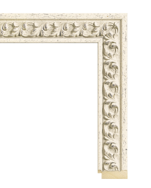 Swedish Country Antique White 2 1/4