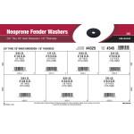 """Neoprene Fender Washers Assortment (3/8"""" thru 7/8"""" Inner Dia. + 1/8"""" Thickness)"""