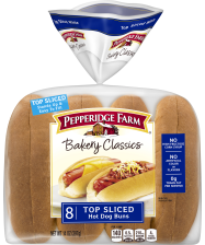 Pepperidge Farm® Hot Dog Rolls - Top Sliced