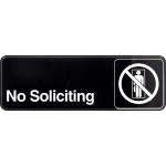 "Adhesive No Soliciting Sign (3"" x 9"")"