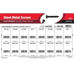 Phillips Pan-Head Black Chromate Sheet Metal Screws Assortment (#6 thru #10)
