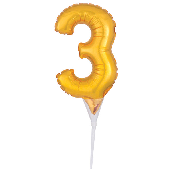 Self Inflatable Gold Numeral DecoPics®