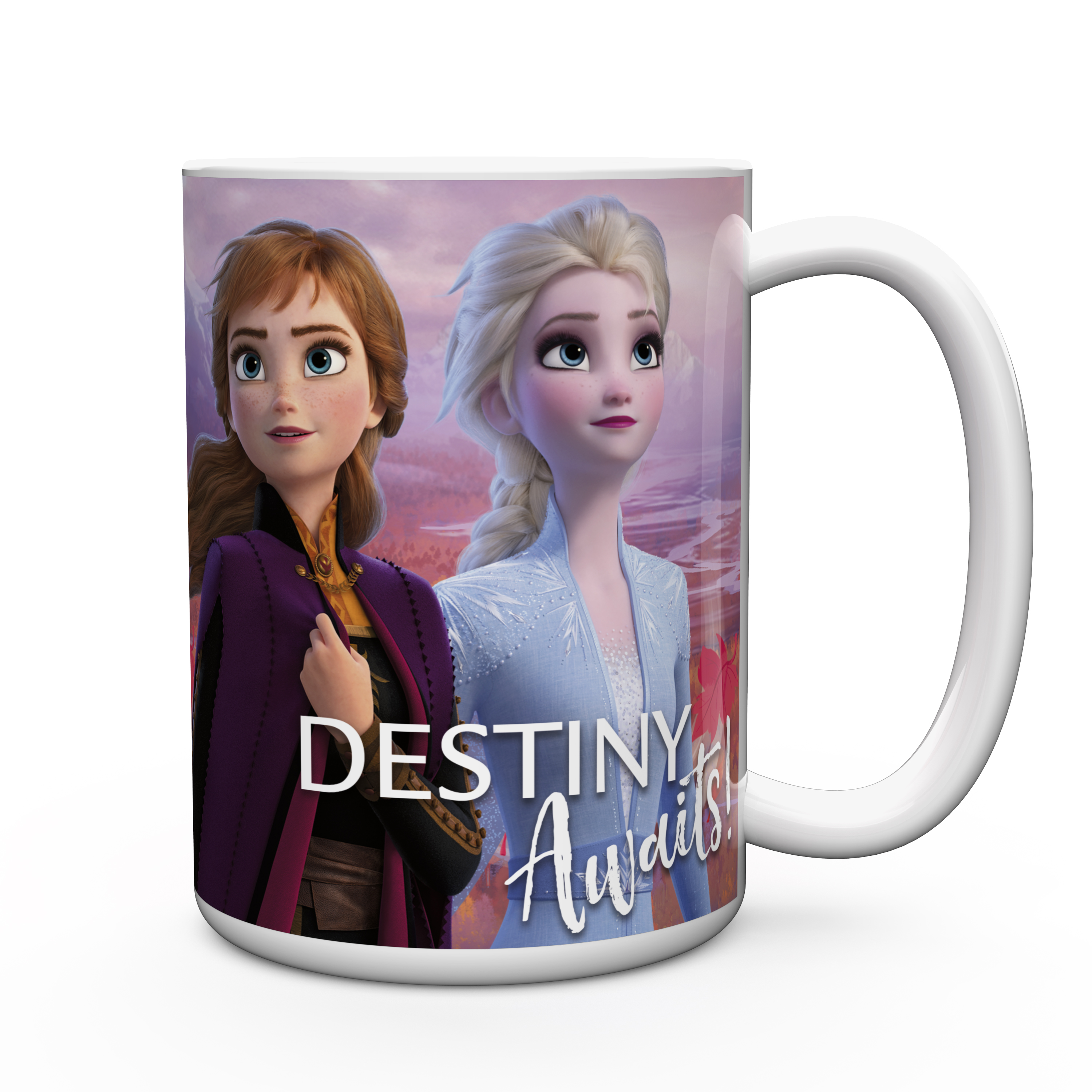 Disney Frozen 2 Movie 15 ounce Coffee Mug and Spoon, Anna, Elsa & Olaf slideshow image 8
