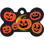 Halloween Pumpkins Large Bone Quick-Tag