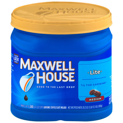Maxwell House Lite Ground Coffee 29.3 oz Canister