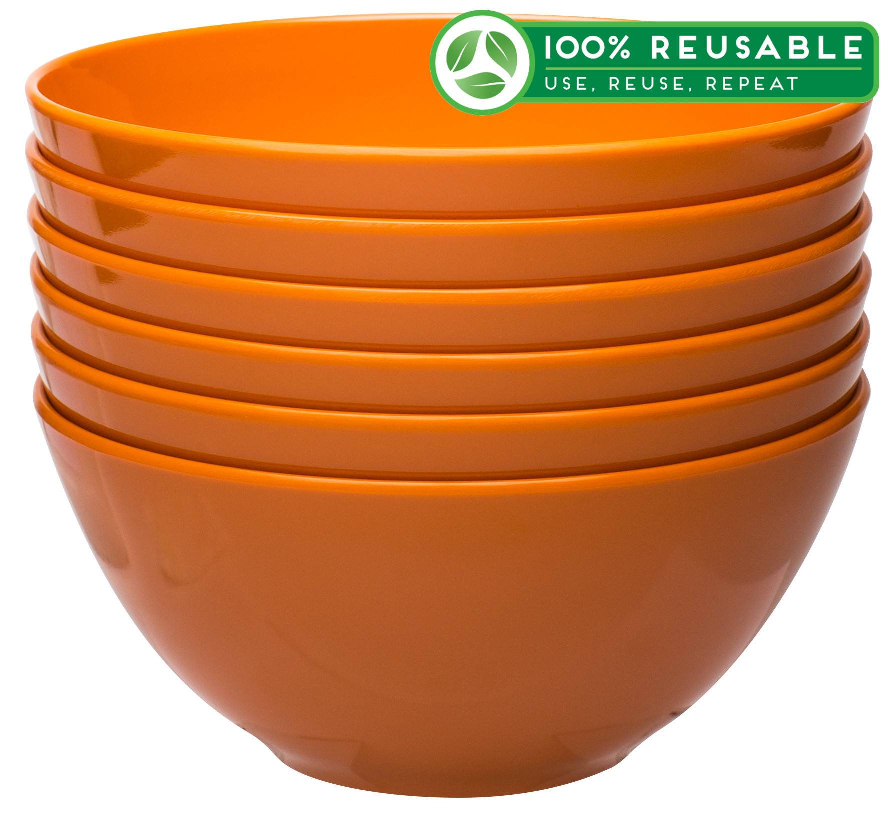 Ella 30 ounce Soup Bowl, Orange, 6-piece set slideshow image 1