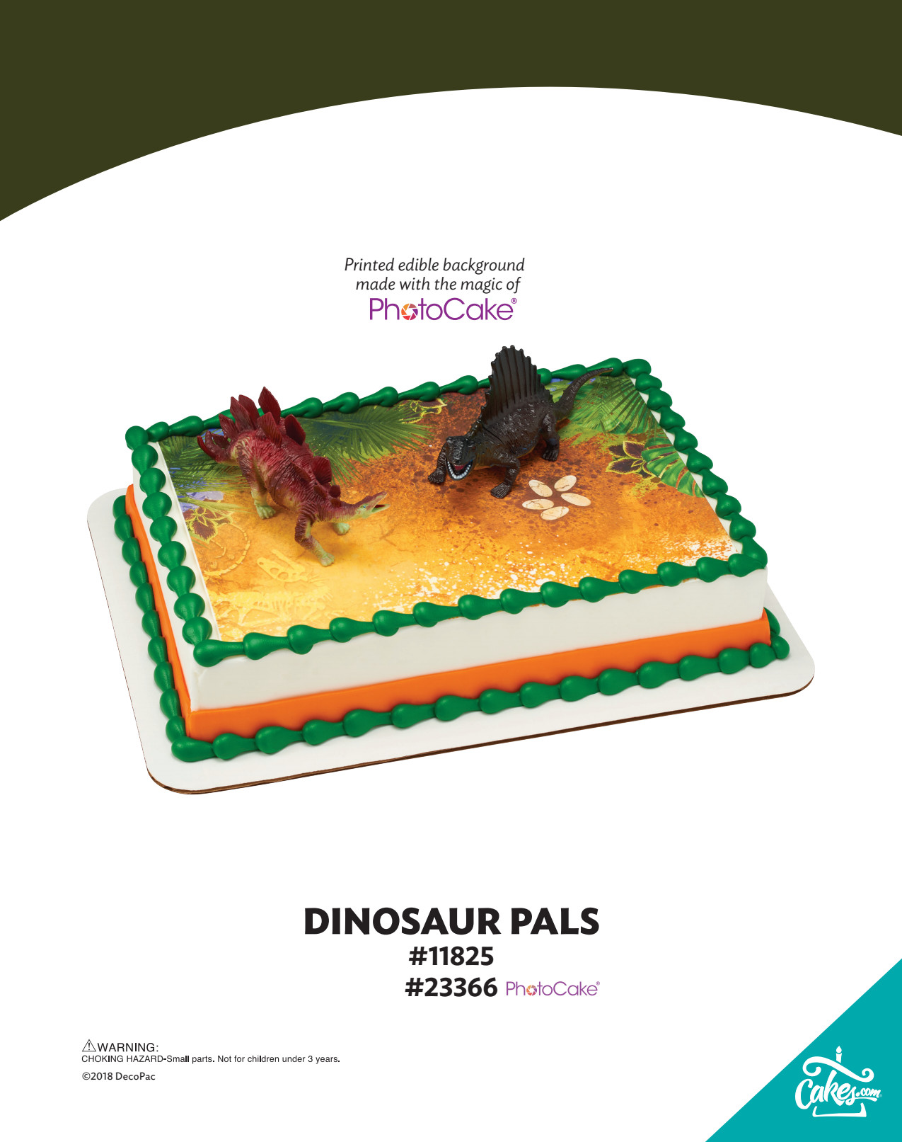 Dinosaur Pals Decoset 174 The Magic Of Cakes 174 Page Decopac