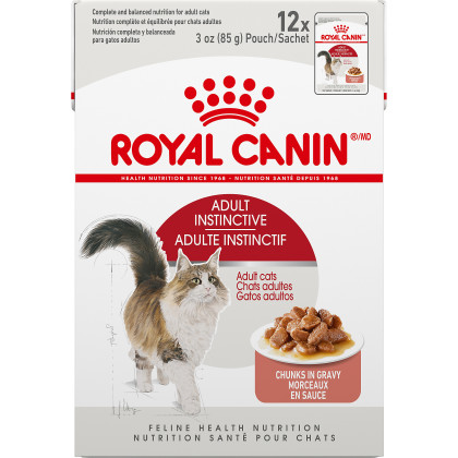 Royal Canin Feline Health Nutrition Adult Instinctive Pouch Cat Food