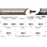 "Ring Weld Projection Studs Assortment (5/16""-18 & 3/8""-16)"