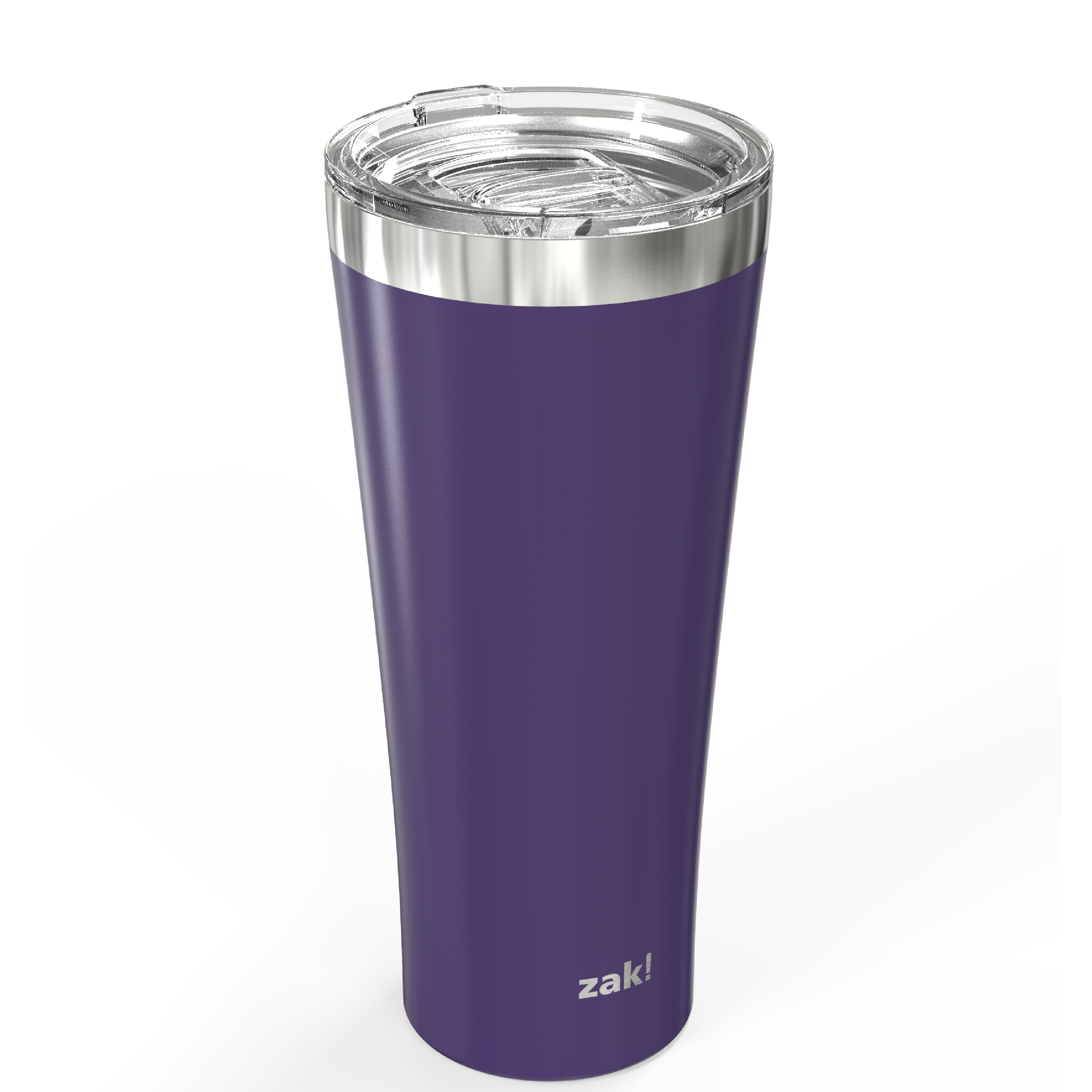 Alpine 30 ounce Stainless Steel Vacuum Insulated Tumbler with Straw, Viola slideshow image 3