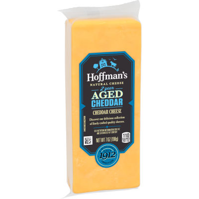 Hoffman's Natural 2 Year Aged Cheddar Cheese 7 oz Wrapper