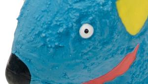 "Li'l Pals 4"" Latex Blue Dog Toy"