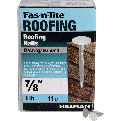 Fas-n-Tite Electro-galvanized Roofing Nails 7/8