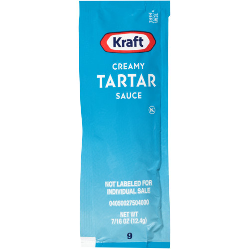 KRAFT Single Serve Creamy Tartar Sauce, 0.4375 oz. Packets (Pack of 200)