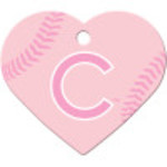 Chicago Cubs Pink Large Heart Quick-Tag