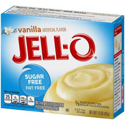 Jell-O Sugar Free Fat Free Instant Reduced Calorie Vanilla Pudding & Pie Filling, 1.5 oz Box