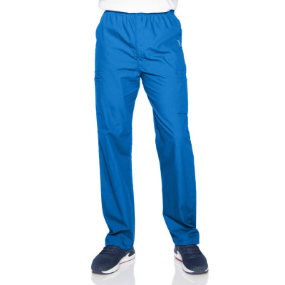 Landau Essentials 7 Pocket Scrub Pants for Men: Classic Relaxed Fit, Elastic, Zipper Front, Pull-on Medical 8555-Landau