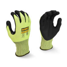 DEWALT DPG855T Hi-Vis HPPE Fiberglass A4 Cut Glove