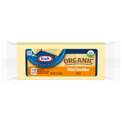 Kraft Organic Mild Cheddar Cheese 7 oz Wrapper