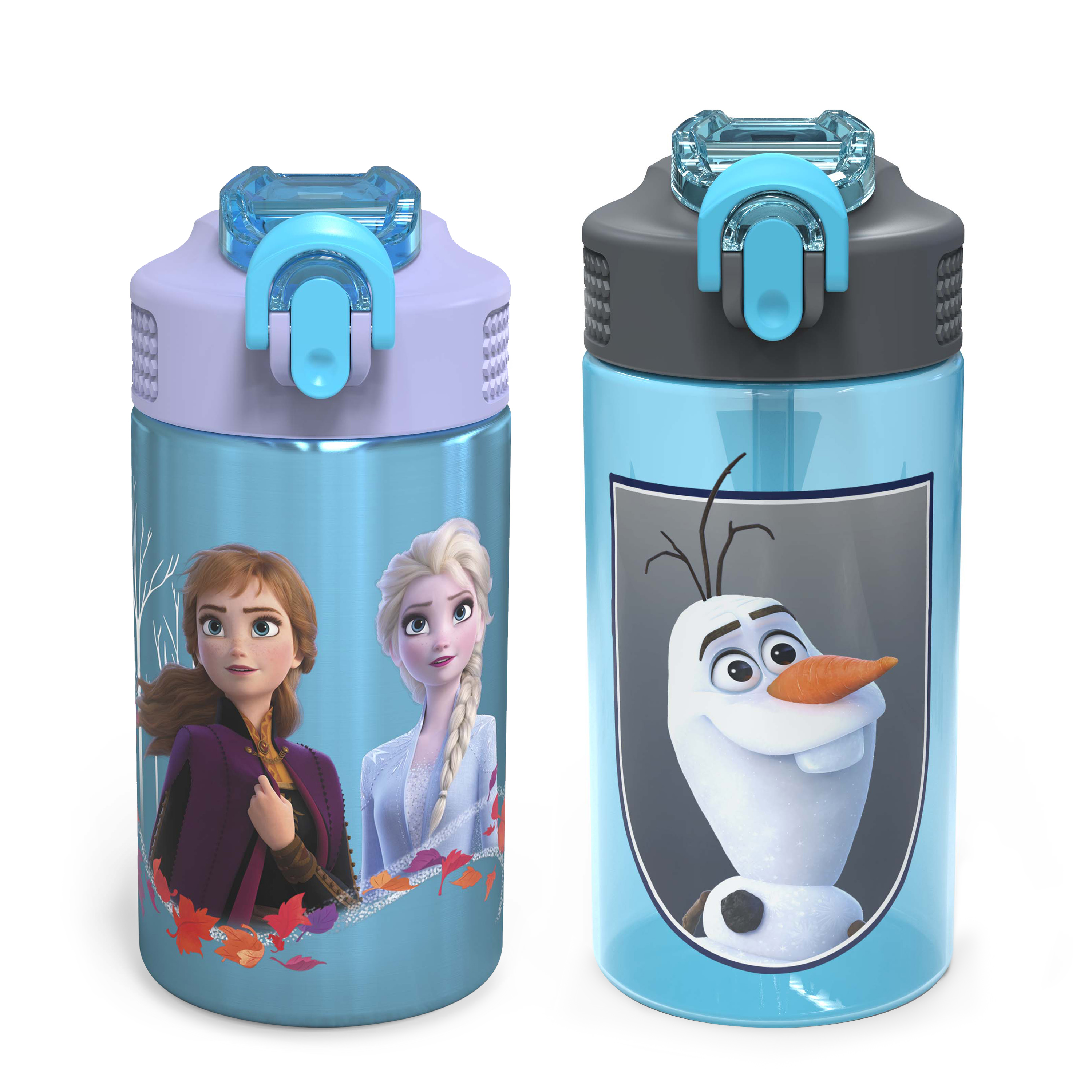 Disney Frozen 2 Movie Water Bottle, Anna , Elsa and Olaf, 2-piece set slideshow image 2