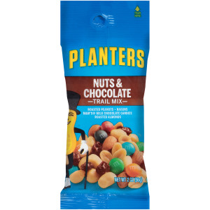 PLANTERS Nut and Chocolate Trail Mix, 2 oz. Single Serve Bags (Pack of 72) image