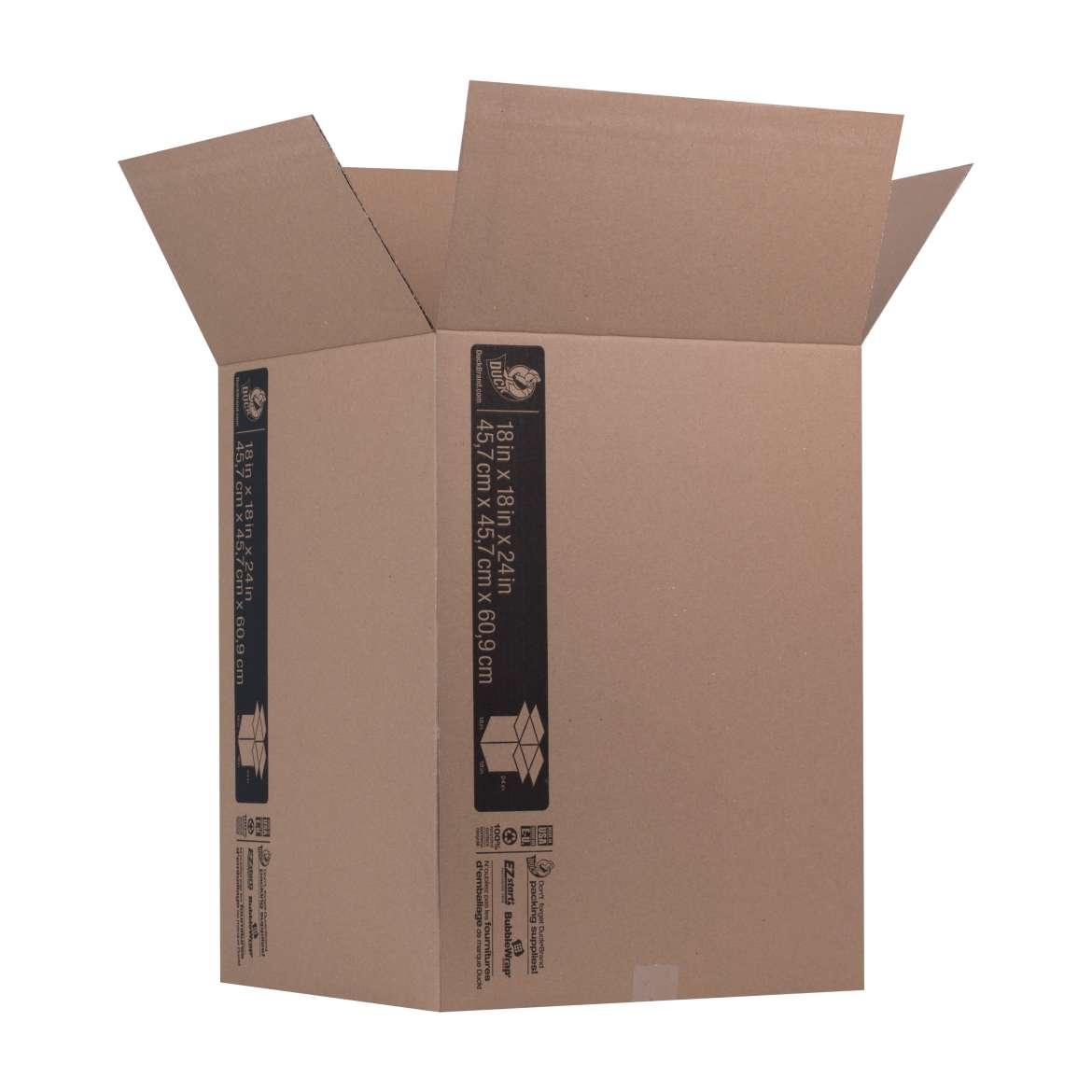 Duck® Brand Kraft Box - Brown, 18 in. x 18 in. x 24 in. Image