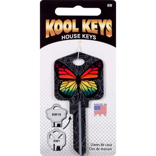 Kool Keys Rainbow Butterfly Key Blank Kwikset 66/97 KW1/10