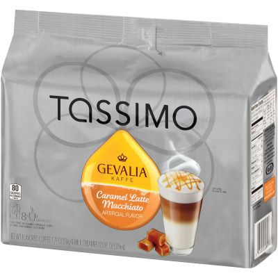 Gevalia Caramel Latte Macchiato Coffee T-Disc for Tassimo Brewing System, 8 count Wrapper