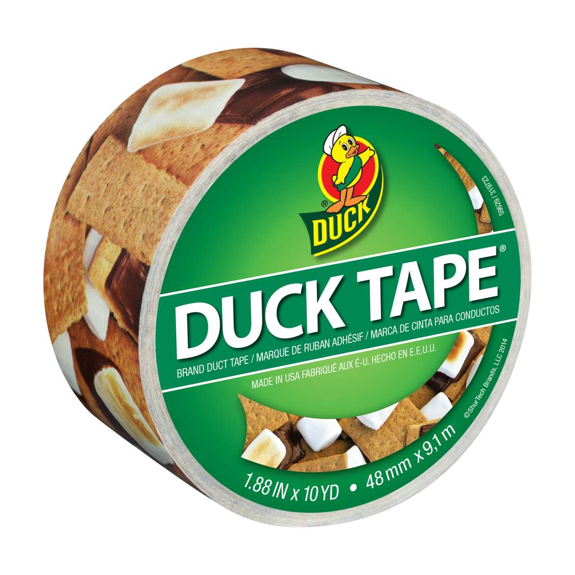 Printed Duck Tape® Brand Duct Tape - S'mores Please, 1.88 in. x 10 yd. Image