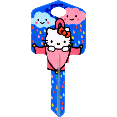 Hello Kitty Rain or Shine Key Blank Kwikset 66/97 KW1/10