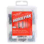 HOMEPAK Tacks, Nails, Brads, and Screws Assortment