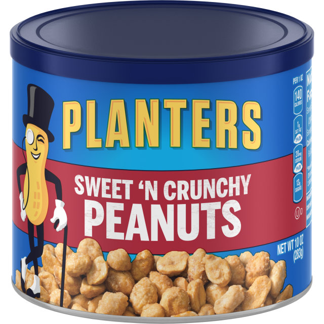 PLANTERS Sweet 'N Crunchy Peanuts 10 oz Can image
