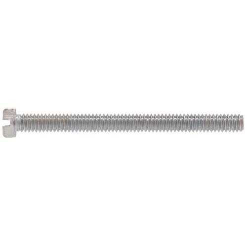 Zinc Hex Head Slotted Machine Screw #6-32 x 3/4