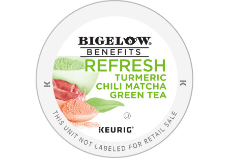 Lid for Bigelow Benefits Refresh Turmeric Chili Matcha Green  Tea K-Cups for Keurig