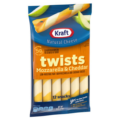 Kraft Mozzarella & Cheddar Twists 12 count