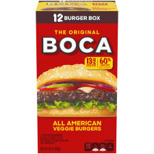 BOCA All American Veggie Burgers, 30 oz Box (12 Patties)