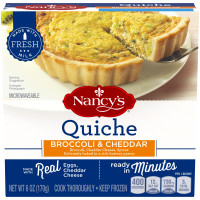 Nancy's(r) Broccoli & Cheddar Quiche 6 oz. Box image