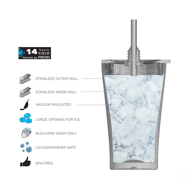 Alfalfa 20 ounce Insulated Tumbler, Blue slideshow image 3