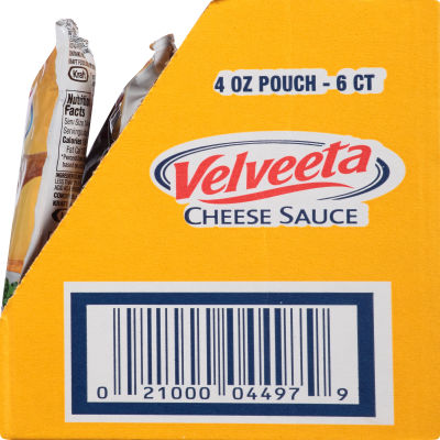 Velveeta Original Cheese Sauce 6 - 4 oz Pouches