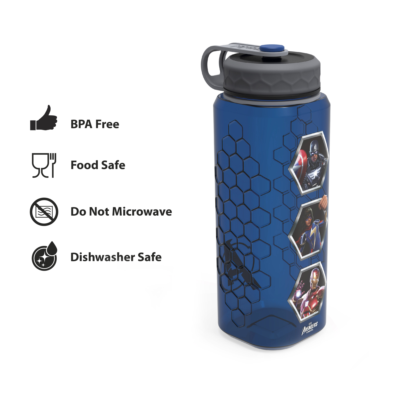 Marevel Comics 36 ounce Reusable Plastic Water Bottle, The Avengers slideshow image 4