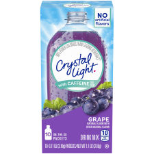 Crystal Light On-The-Go Grape Energy Drink Mix with Caffeine, 10 - 0.11 oz Packets