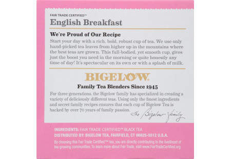 Keurig Bigelow English Breakfast Tea K-Cups box of 12