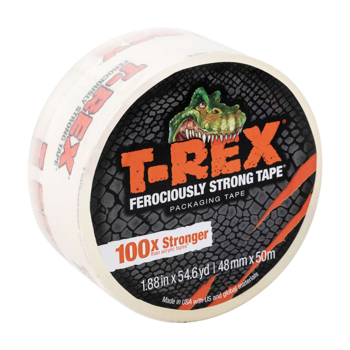 T-Rex® Packing Tape - Clear, 1.88 in. x 54.6 yd.