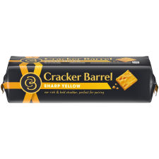 Cracker Barrel Sharp Cheddar Cheese 8 oz Wrapper